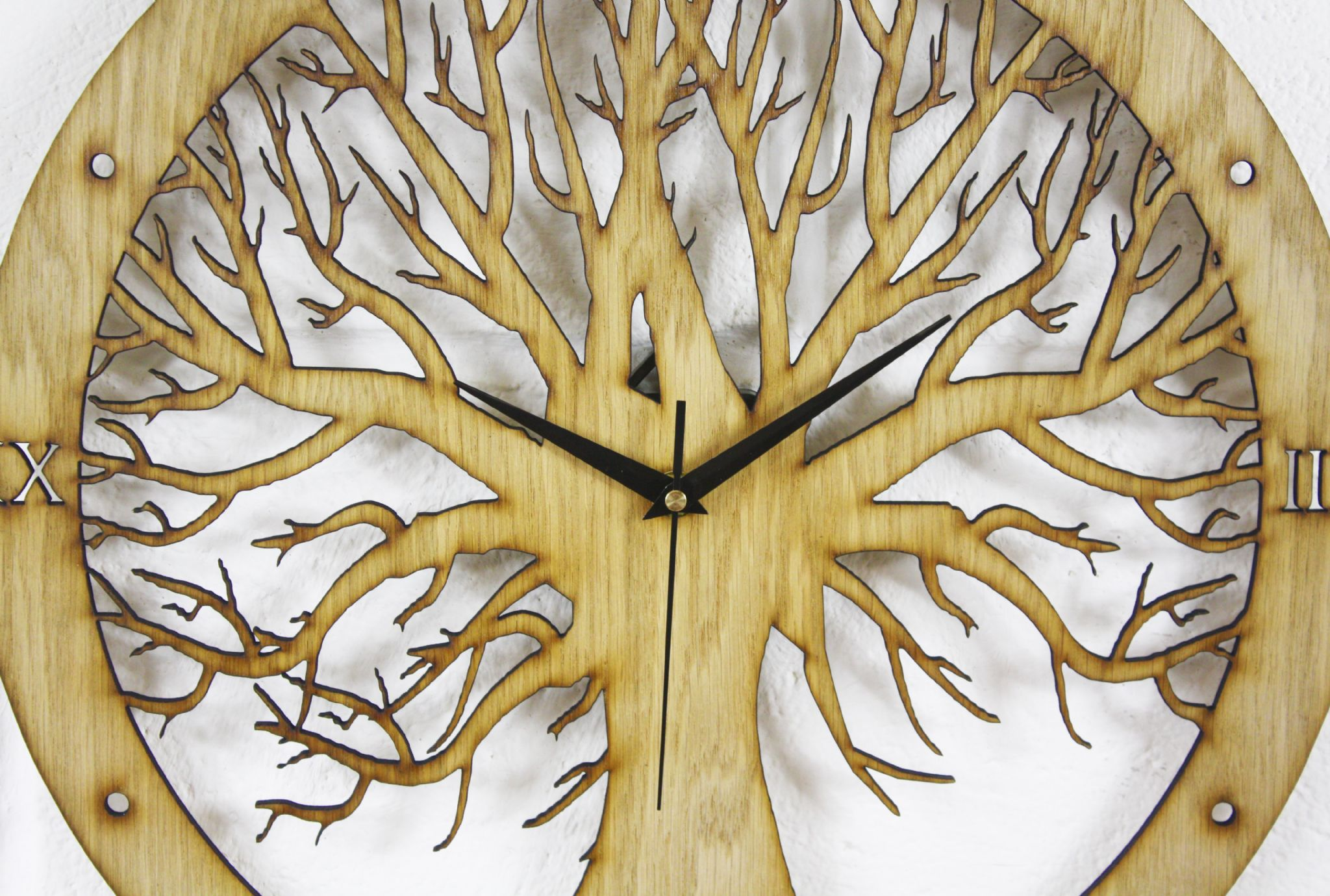 Led Lighting For Home Interiors Tree Design Laser Cut Clock